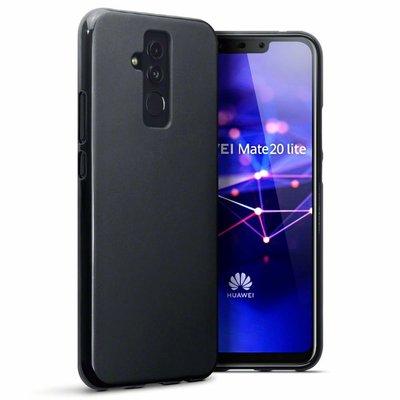 Huawei Mate 20 Lite hoesje, gel case, mat zwart