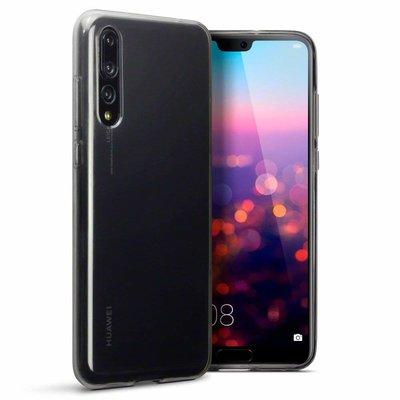 Huawei P20 Pro hoesje, gel case, doorzichtig grijs