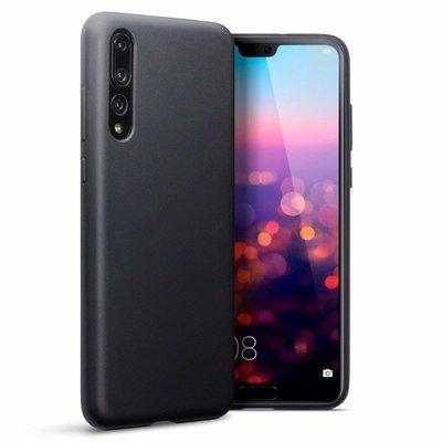 Huawei P20 Pro hoesje, gel case, mat zwart