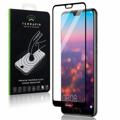 Huawei P20 Pro screenprotector, full screen tempered glass (glazen screenprotector), zwarte randen