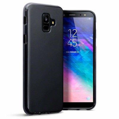 Samsung Galaxy A6 (2018) hoesje, gel case, mat zwart