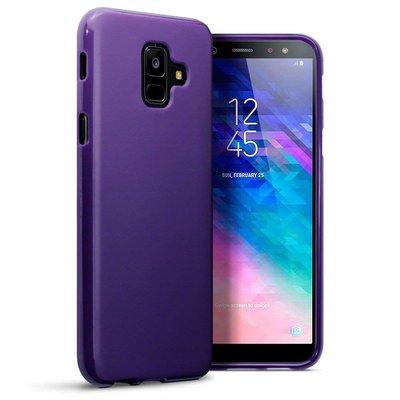 Samsung Galaxy A6 (2018) hoesje, gel case, mat paars