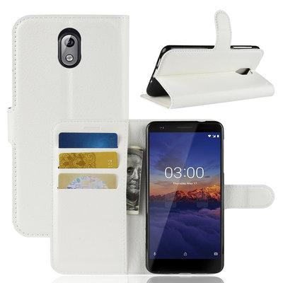 Nokia 3.1 (2018) hoesje, 3-in-1 bookcase, wit