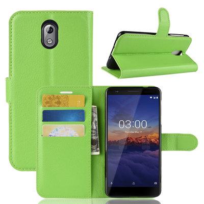 Nokia 3.1 (2018) hoesje, 3-in-1 bookcase, groen