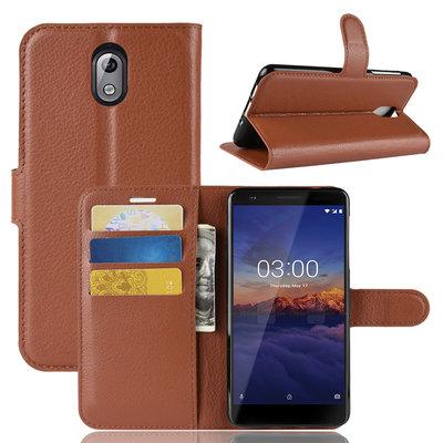 Nokia 3.1 (2018) hoesje, 3-in-1 bookcase, bruin