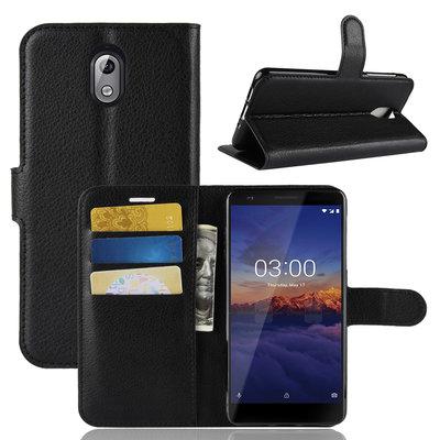 Nokia 3.1 (2018) hoesje, 3-in-1 bookcase, zwart