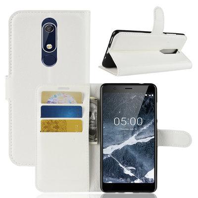 Nokia 5.1 (2018) hoesje, 3-in-1 bookcase, wit