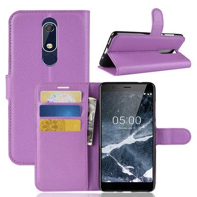 Nokia 5.1 (2018) hoesje, 3-in-1 bookcase, paars
