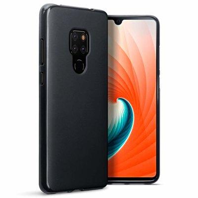 Huawei Mate 20 hoesje, gel case, mat zwart
