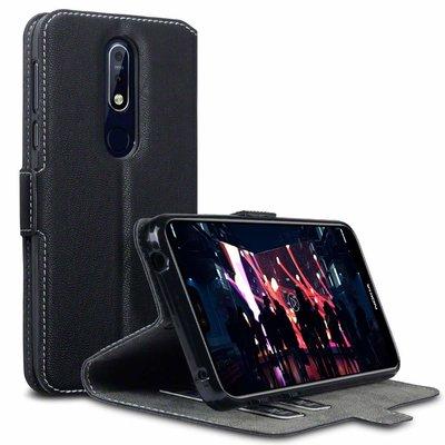Nokia 7.1 (2018) hoesje, 3-in-1 bookcase extra dun, zwart