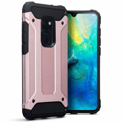 Huawei Mate 20 hoesje, tough armor extreme protection case, rosé goud