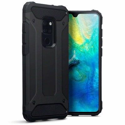 Huawei Mate 20 hoesje, tough armor extreme protection case, zwart