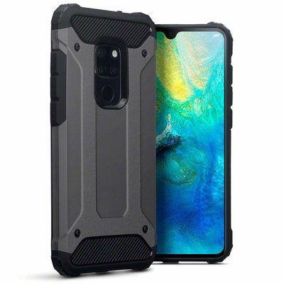 Huawei Mate 20 hoesje, tough armor extreme protection case, grijs