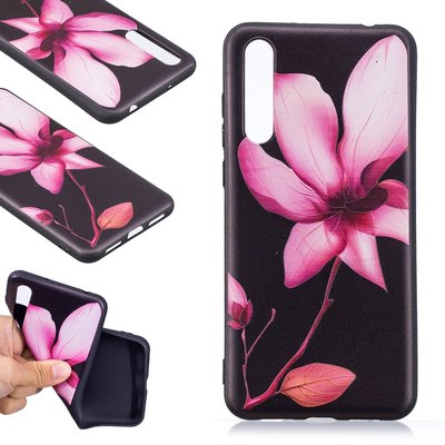 Huawei P20 Pro hoesje, gel case met print, bloem