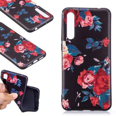 Huawei P20 Pro hoesje, gel case met print, rozen