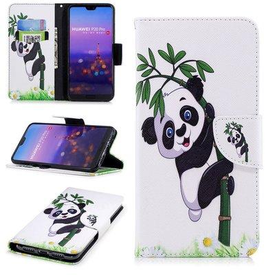 Huawei P20 Pro hoesje, 3-in-1 bookcase met print, panda