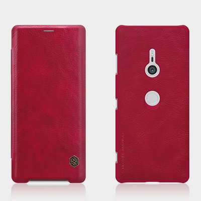 Sony Xperia XZ3 hoesje, Nillkin Qin series bookcase, rood