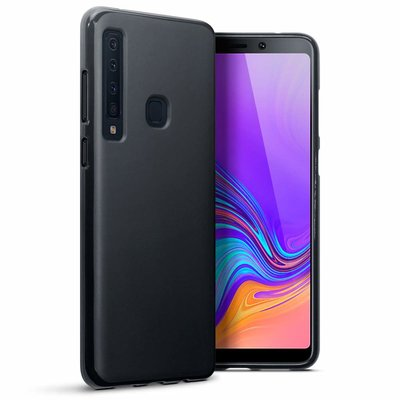 Samsung Galaxy A9 (2018) hoesje, gel case, mat zwart