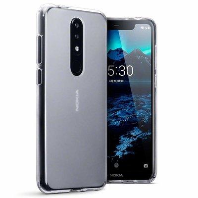Nokia 5.1 Plus hoesje, gel case, doorzichtig