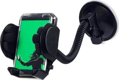 Smartphonehouder voor in de auto met zuignap, Zwart