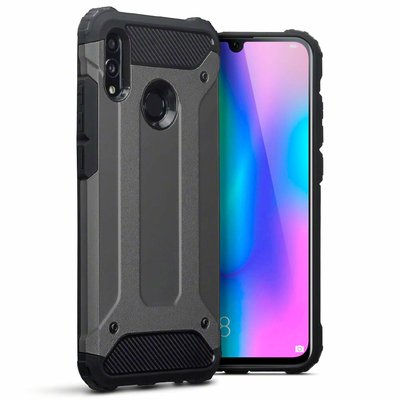 Huawei P Smart (2019) hoesje, tough armor extreme protection case, donker grijs
