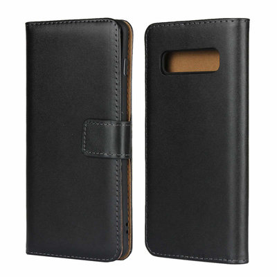 Samsung Galaxy S10 Plus (S10+) hoesje, bookcase, zwart-bruin