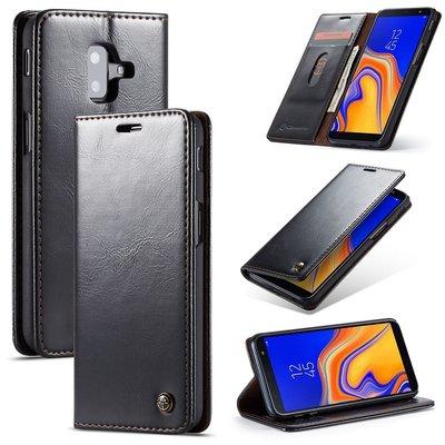 Samsung Galaxy J6 Plus hoesje, CaseMe bookcase, zwart