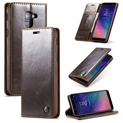Samsung Galaxy A8 (2018) hoesje, CaseMe bookcase, bruin