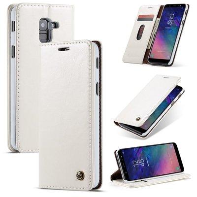 Samsung Galaxy A8 (2018) hoesje, CaseMe bookcase, wit
