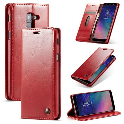 Samsung Galaxy A8 (2018) hoesje, CaseMe bookcase, rood