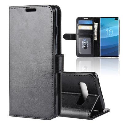 Samsung Galaxy S10 Plus (S10+) hoesje, bookcase, zwart