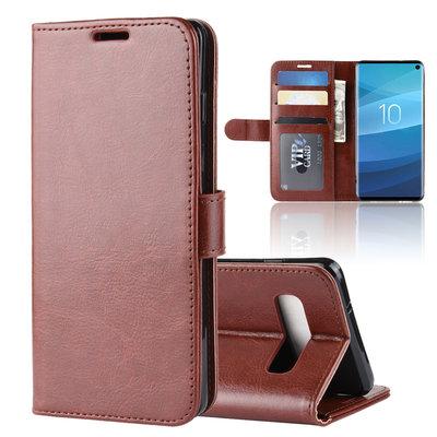 Samsung Galaxy S10 hoesje, bookcase, bruin