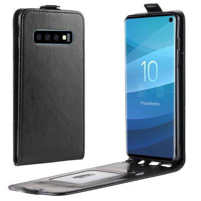 Samsung Galaxy S10 hoesje, flipcase, zwart