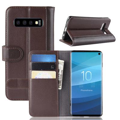 Samsung Galaxy S10 hoesje, Luxe bookcase, bruin