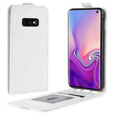 Samsung Galaxy S10E hoesje, flipcase, wit