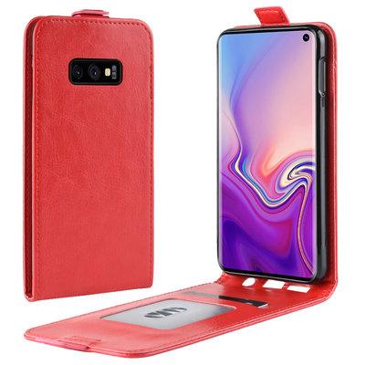 Samsung Galaxy S10E hoesje, flipcase, rood