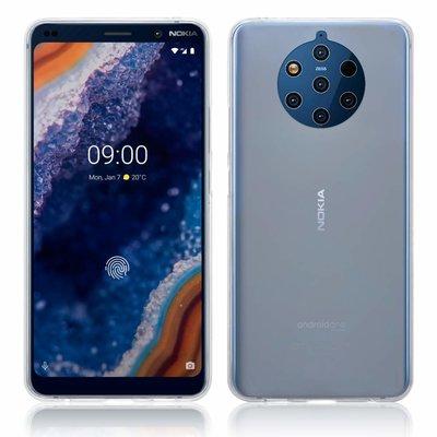 Nokia 9 PureView hoesje, gel case, mat doorzichtig