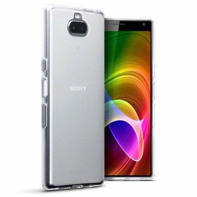 Sony Xperia 10 hoesje, gel case, volledig doorzichtig