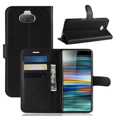 Sony Xperia 10 hoesje, 3-in-1 bookcase, zwart