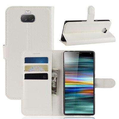 Sony Xperia 10 hoesje, 3-in-1 bookcase, wit