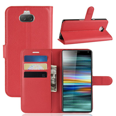 Sony Xperia 10 hoesje, 3-in-1 bookcase, rood