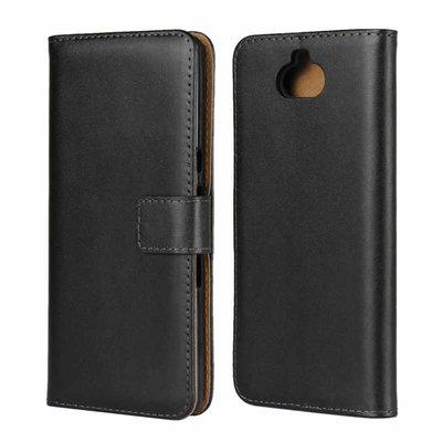 Sony Xperia 10 hoesje, bookcase, zwart-bruin