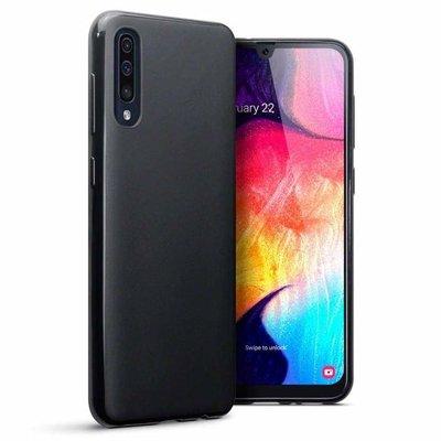 Samsung Galaxy A50 / A30S hoesje, gel case, mat zwart