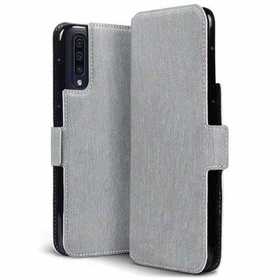 Samsung Galaxy A50 hoesje, 3-in-1 bookcase extra dun, grijs
