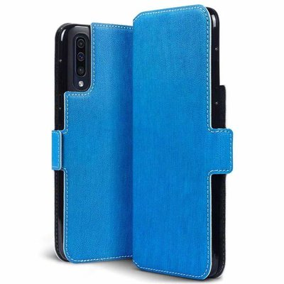 Samsung Galaxy A50 hoesje, 3-in-1 bookcase extra dun, blauw