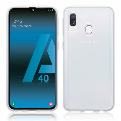Samsung Galaxy A40 hoesje, gel case, volledig doorzichtig