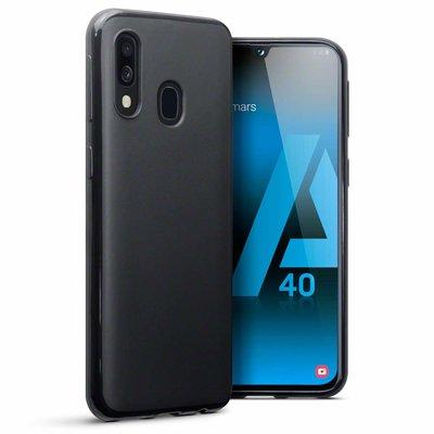 Telefoonhoesje voor Samsung Galaxy A40, gel case, mat zwart
