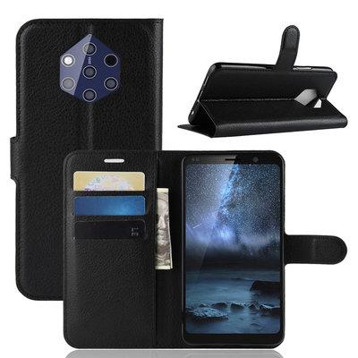 Nokia 9 PureView hoesje, 3-in-1 bookcase, zwart
