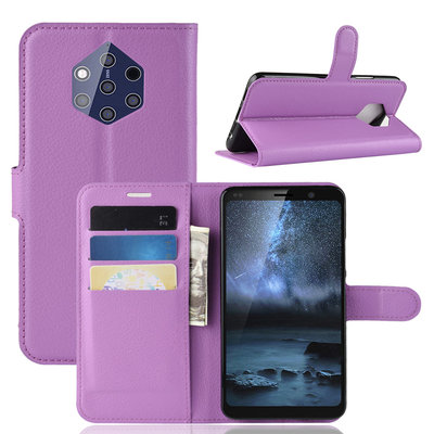 Nokia 9 PureView hoesje, 3-in-1 bookcase, paars