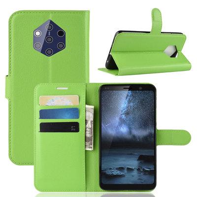 Nokia 9 PureView hoesje, 3-in-1 bookcase, groen